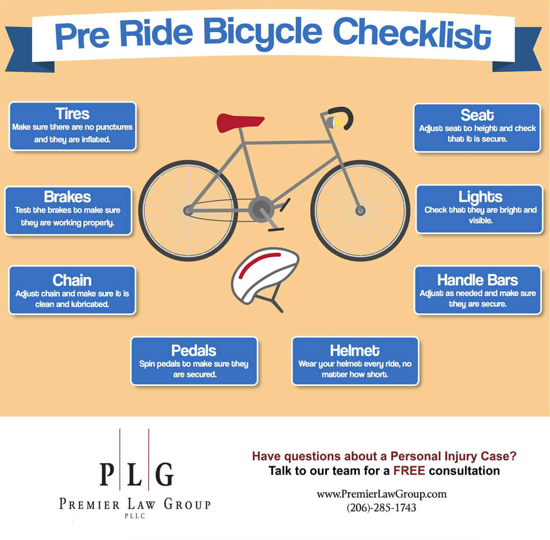 Checklist to avoid bicycle injury